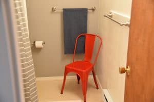 red chair in bath