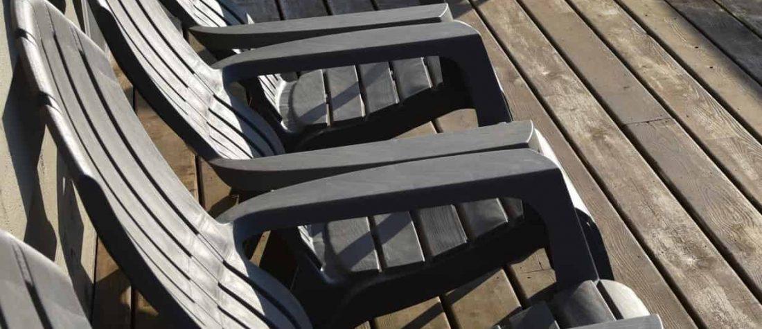 gray beach chairs