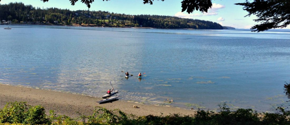 kayaking on Whidbey Island